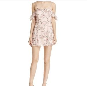 FL&L Bee balm aurora ruffle mini dress